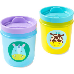 Skip Hop Two Zoo Tumbler Cups (Unicorn/Giraffe)