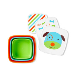 Skip Hop Toddler Food Storage Snack Box Set, Dog