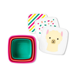 Skip Hop Toddler Food Storage Snack Box Set, Llama