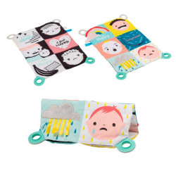 Taf Toys book mat black and white smiley emotions