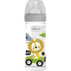 Chicco Baby Bottle 250 Ml Polymer / Silicone Gray
