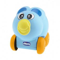 سيارة بلاستيك بتصميم حيوانات المزرعة  بلون أزرق من تشيكو