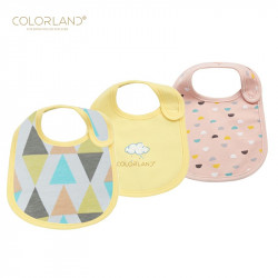 Colorland 3 Pieces Cotton Feeding Baby Bibs