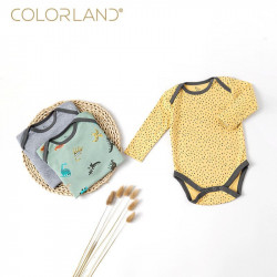 Colorland Baby Bodysuit 3 Pieces In One Pack, 0-3 Months