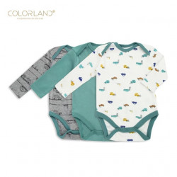 Colorland - (1) Baby Bodysuit 3 Pieces In One Pack - 12-18 Months