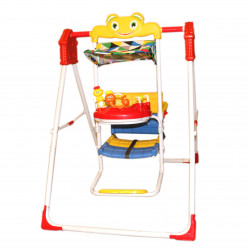 Red Swing With Colored Rattles