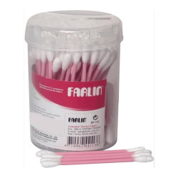 Farlin - Paper-Stem Cotton Buds 100 pieces, Pink
