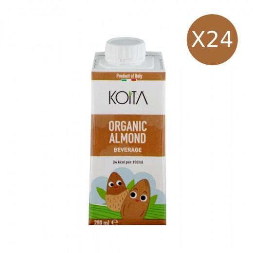 KOITA Organic Almond , 200 ml, Pack of 24