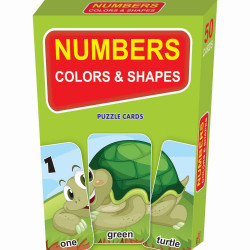 Learning Express - Numbers Colors and Shapes Puzzle Cards