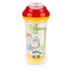 Nuby Insulated No-spill Clik-It Cool Sipper - 270 ml, Red