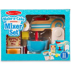 Melissa & Doug Wooden Make-a-Cake Mixer Set