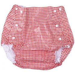 Farlin Baby Plastic Diaper Cover Pants Pink 3-6 kg - Small