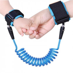 Child Anti Lost Wrist Strap Rope Harness Outdoor Walking, Blue, 2 m