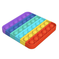 Chuckle & Roar Push Pop Bubble - Fidget Toy - Quadrat Rainbow
