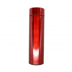 Insulated Water Bottle, Thermos Shape, Red, 500 ml
