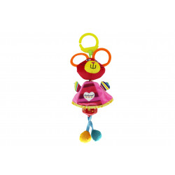 Ferdinand Wind Chime Clip on Toy for Stroller Crib Playmate, Mouse