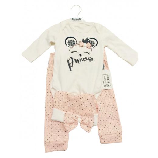 Miniworld Body White and Peach Princess 3-6 Months