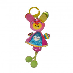 Ferdinand Wind Chime Clip on Toy for Stroller Crib Playmate, Cat