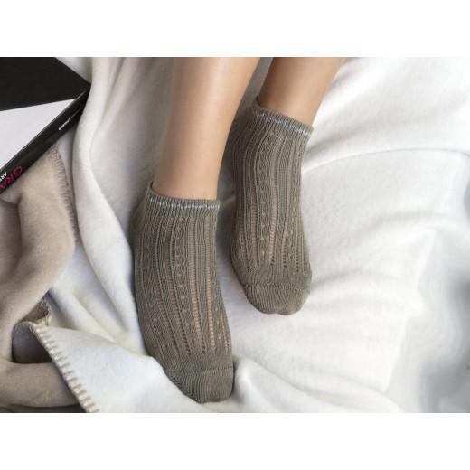 Madame Coco - Souffle Ankle Socks - Khaki