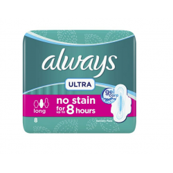 ALWAYS Ultra Thin Long Sanitary Pads, 8 count
