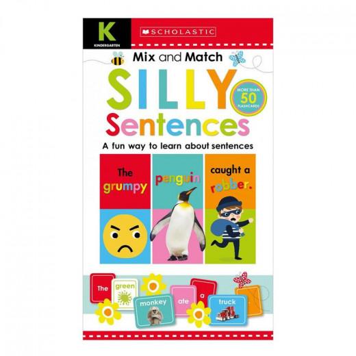 Scholastic Mix & Match Silly Sentences Kindergarten Workbook