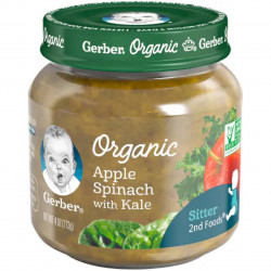 GERBER Organic Apple Spinach With Kale 4Oz