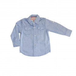 Baby Blue Long- Sleeves Shirt for Boys +3  Months