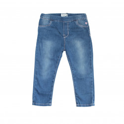 Jeans Simple Design With Elastic Waist , 9-12 Months