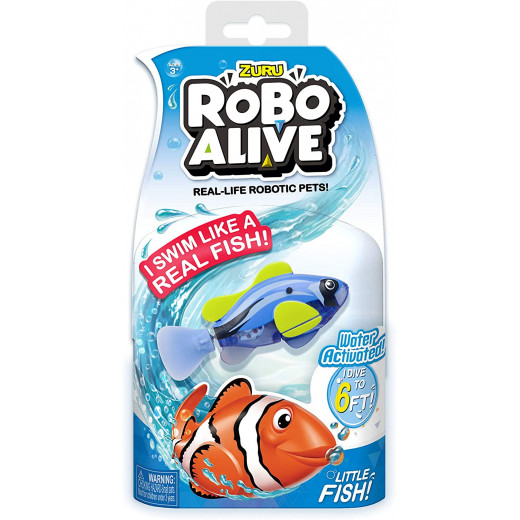 Robo Robo Alive Water Activated Fish Battery-Powered