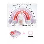 بطانية التصوير الفوتوغرافي بتصميم وشعار للجنسين حديثي الولادة