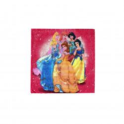 مناديل ورقية للاطفال ، بتصميم اميرات ديزني  باللون الزهري، 20 قطعة