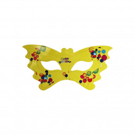 مجموعة من 11 قناع للوجه لحفلة عيد الميلاد -بتصميم  بالونات باللون الاصفر