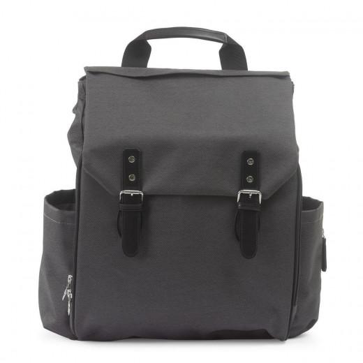 حقيبة ظهر حفاضات شيكو سهلة الاستخدام مقاس 48 × 31 سم من النسيج الرمادي الداكن