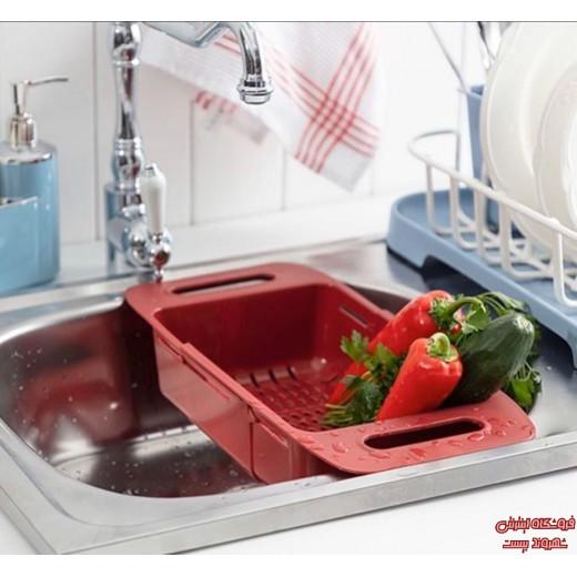 مصفاة حوض قابلة للتعديل من مدام كوكو بيور - أحمر كارمن