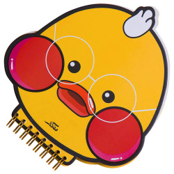 دفتر بتصميم بطة ميمي باللون الأصفر من مفكرة