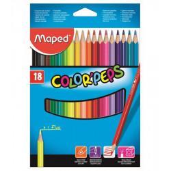 18 أقلام تلوين خشبية  من مابيد قطع