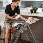 كرسي مرتفع شيكو بولي مضغوط قابل للطي سهل التنظيف ، رمادي داكن (بيج)