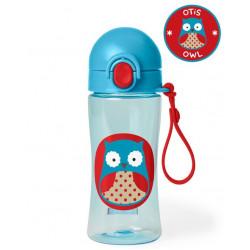 Skip Hop Zoo Lock-Top Owl Sports Bottles